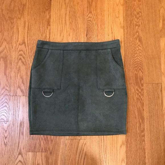 LF Dresses & Skirts - Lf Store seek suede skirt new medium